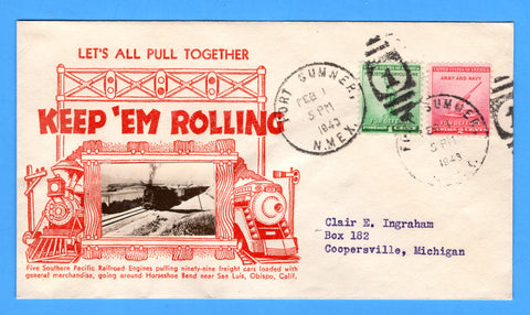 Let's All Pull Together - KEEP 'EM ROLLING, Cancelled Fort Sumner, New Mexico February 1, 1943 - Crosby Patriotic Cover