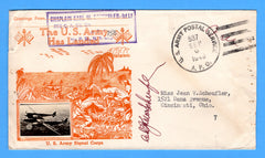 "Chaplain's Free Mail 355th C.A. Searchlight Bn. APO 758 Palermo, Sicily Cancelled APO 537 Bizerte, Tunisia ""The U.S. Army Has Landed"" September 6, 1943 - Crosby Patriotic Cover"