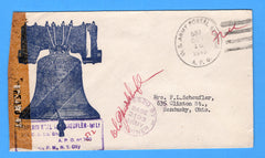 Army Chaplain's Free Mail APO 512 Algeria Liberty Bell October 16, 1943