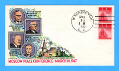 Moscow Peace Conference  March 10, 1947 - Fluegel Event Cover