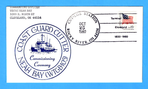 USCGC Neah Bay WTGB-105 Commissioning Ceremony October 25, 1980