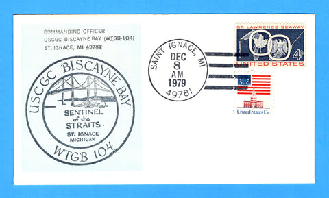 "USCGC Biscayne Bay WTGB-104 ""Sentinel of the Straits"" Commissioned December 8, 1979"