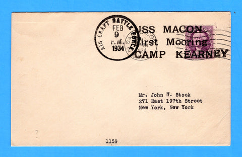 USS Macon First Mooring Amp Kearney Cancelled Air Craft Battle Force Feb 9, 1934