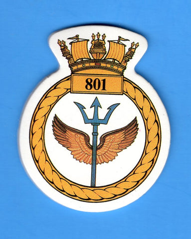 "Royal Navy Naval Air Squadron 801 Foam Insignia with Peel off Back 1 7/8""W x 2 1/4""H"