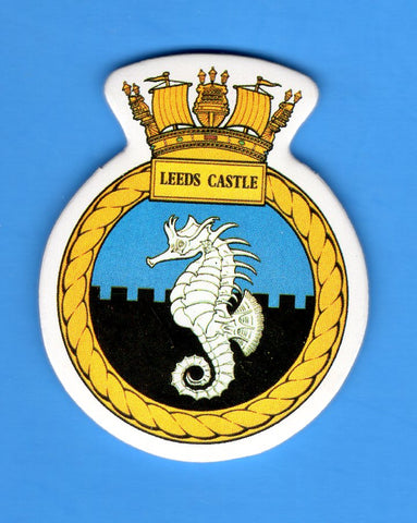 "HMS Leeds Castle Foam Insignia with Peel off Back 1 7/8""W x 2 1/4""H"