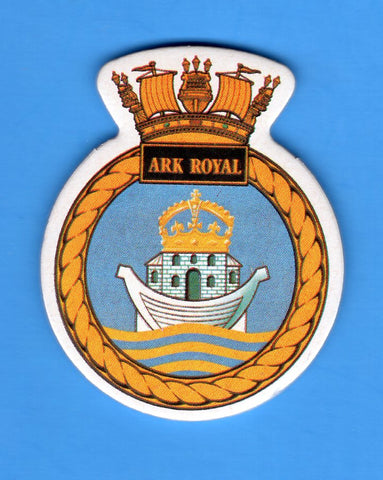 "HMS Ark Royal Foam Insignia with Peel off Back 1 7/8""W x 2 1/4""H"