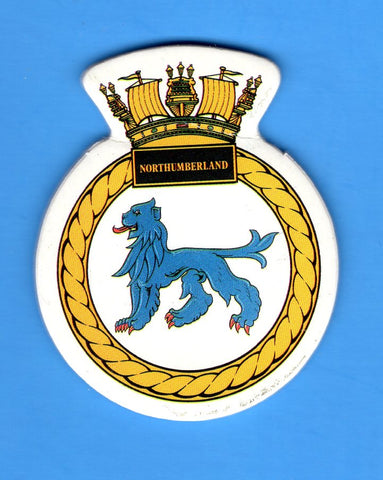 "HMS Northumberland Foam Insignia with Peel off Back 1 7/8""W x 2 1/4""H"