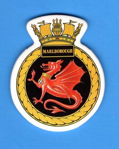 "HMS Marlborough Foam Insignia with Peel off Back 1 7/8""W x 2 1/4""H"