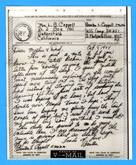 Sailor's V Mail USS Camp DE-251 October 9, 1944