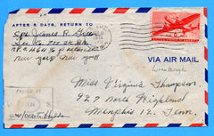 Soldier's Censored Mail APO 464 9th BPO Mermoutier, France March 16, 1945