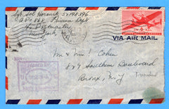 Soldier's Censored Mail APO 868 Port-au-Spain, Trinidad Oct 13, 1943