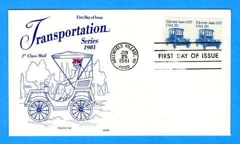 Electric Auto 1917 First Day Cover by Gamm