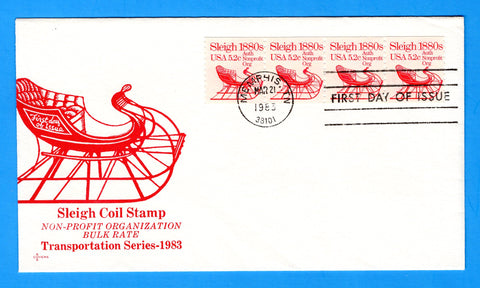 Sleigh 1880s First Day Cover by Gamm