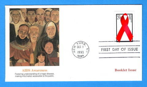 AIDS Awareness First Day Cover by Fleetwood