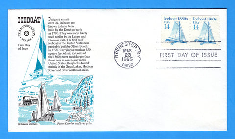 Ice Boat 1880s First Day Cover by Aristocrat Cachets