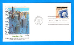 Ameripex 86 First Day Cover by Fleetwood