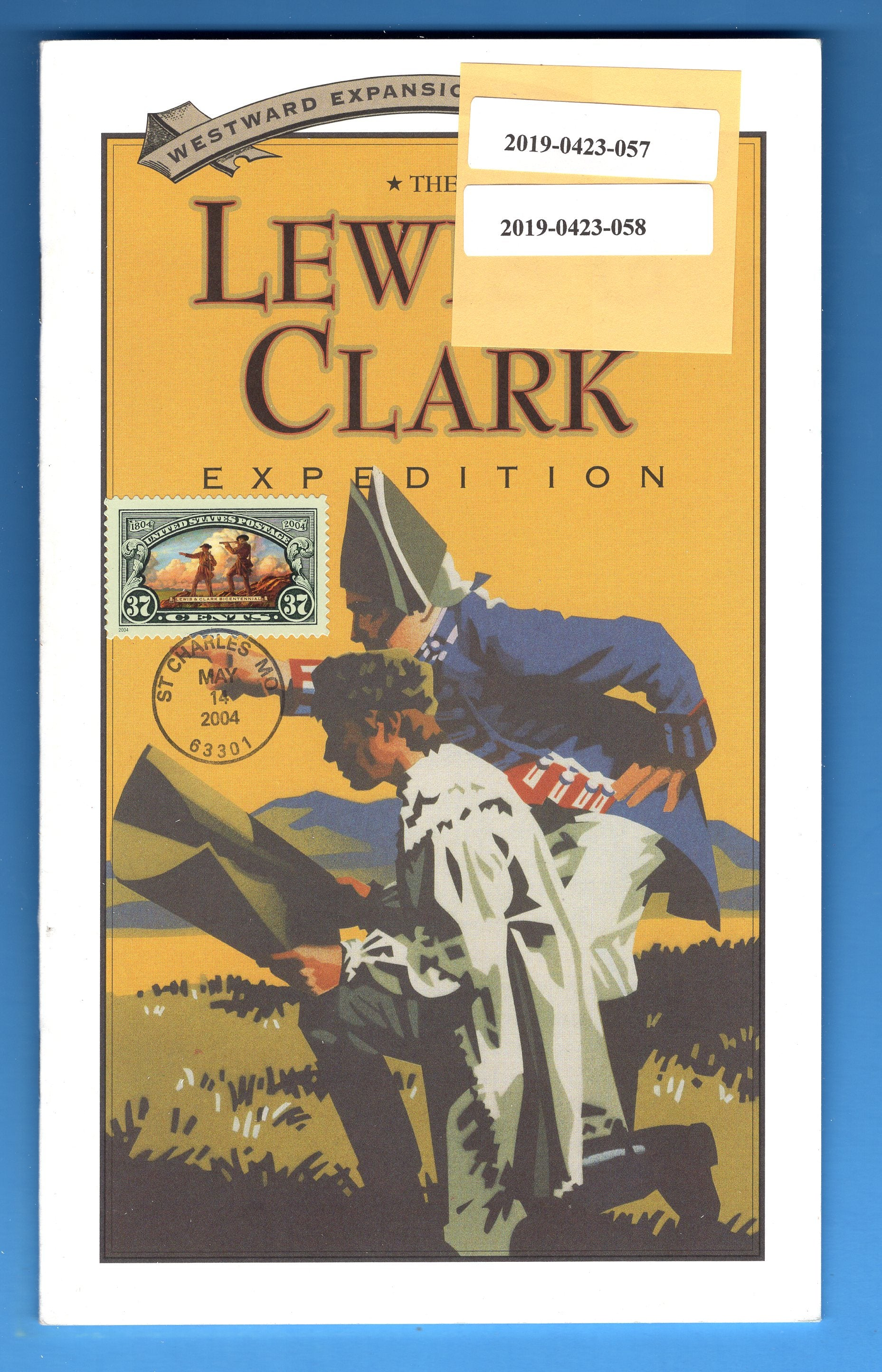 Scott 3854 Lewis & Clark Expeditiuon First of Issue on Westward Expansion Series No. 1 Pamphlet by Jefferson National Parks Assn. - Nineteen Pages