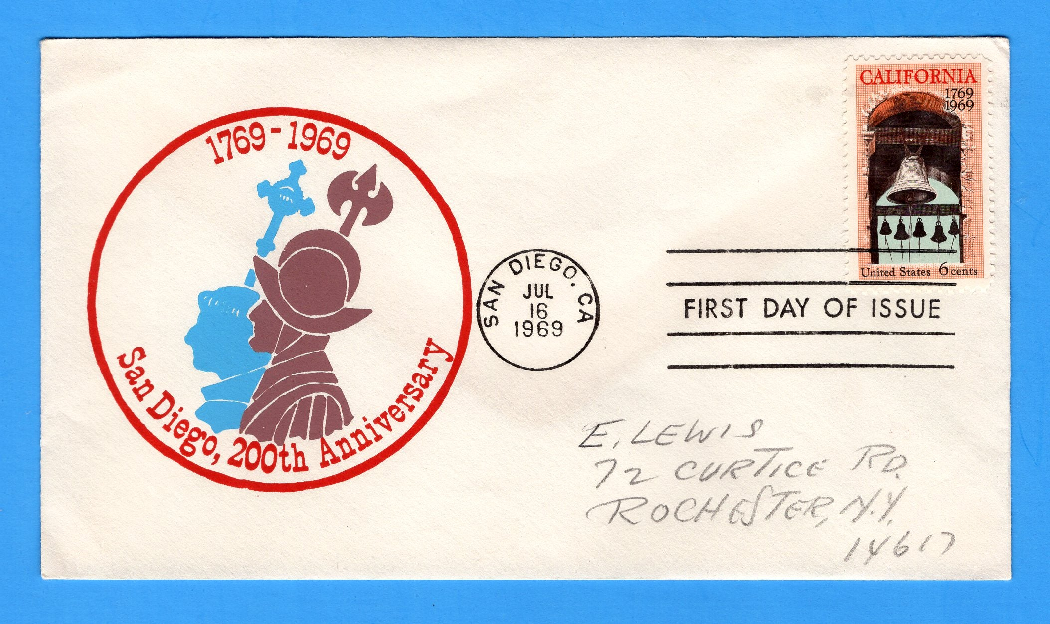 Scott 1373 6c California Settlement Silk Screen First Day Cover by Eric Lewis - Very Scarce - Only Thirty Known Copies