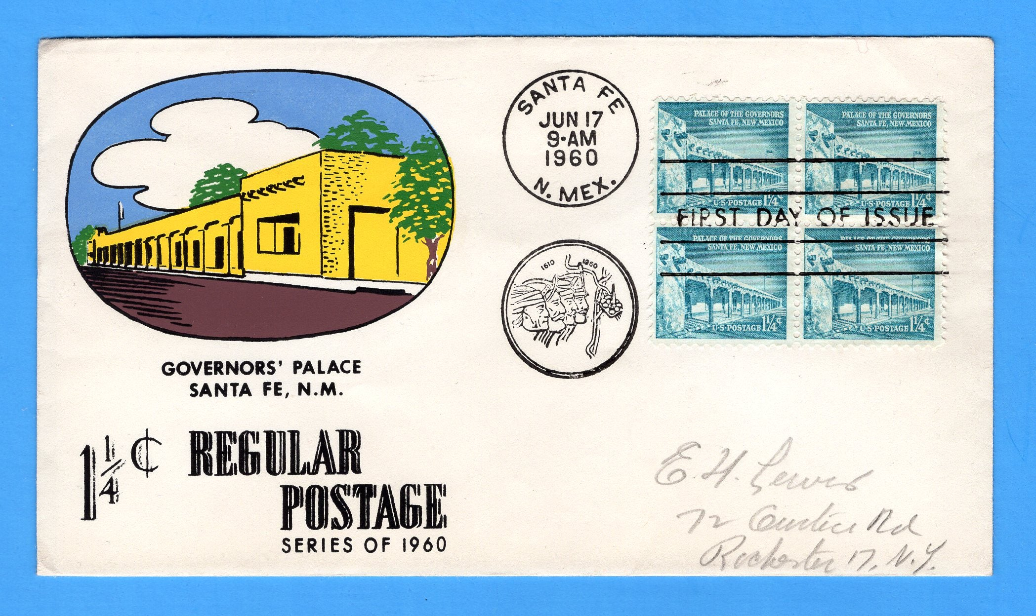 "Scott 1031A 1 1/4c Governor""s Palace Silk Screen First Day Cover by Eric Lewis - Very Rare - Only Seven Known Copies"