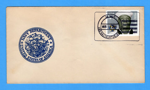 USS Halyburton FFG-40 August 16, 2011 - Original WWII Era Naval Cover - Cover Serviced by Great Southern Cover Co