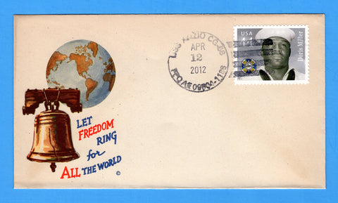 USS Anzio CG-68 April 12, 2012 on Original WWII Era Minkus Patriotic Cover - Cover Serviced by Great Southern Cover Co