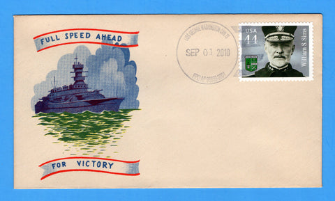 USS George Washington CVN-73 Sep 1 2010 on WWII Era Minkus Patriotic Cover - Cover Serviced by Great Southern Cover Co