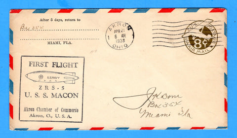 USS Macon ZRS-5 First Flight April 21, 1933