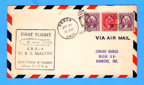 USS Macon ZRS-5 First Flight Akron, Ohio April 21, 1933
