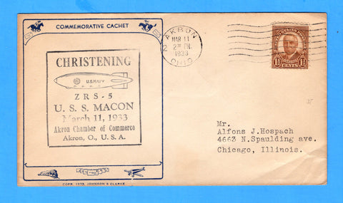 USS Macon ZRS-5 Christening March 11, 1933