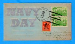 USS Umpqua AT-25 Navy Day October 27, 1939 - Linto Cachet 99, Cover 38, Covers Issued 60