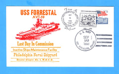 USS Forrestal AVT-59 Last Day in Commission September 30, 1993