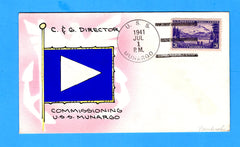 USS Munargo AP-20 First Day Postal Service July 1, 1941 - Mae Weigand Hand Painted Cachet