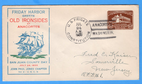 U.S. Frigate Constitution San Juan County Day, Anacortes, Washington July 24, 1933