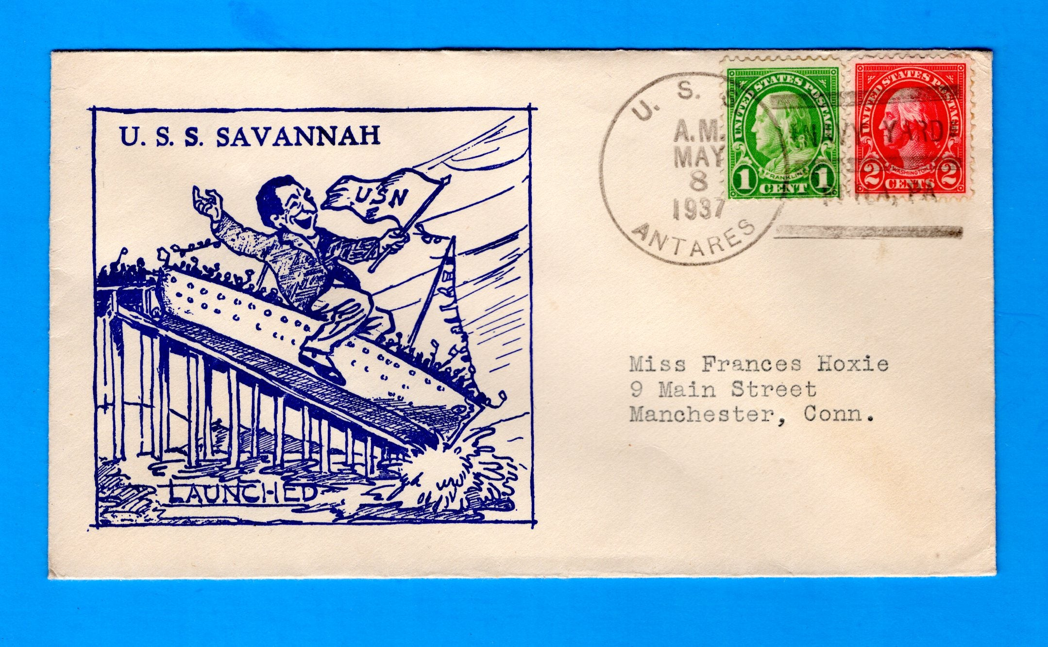 USS Savannah CL-42 Launched CL-42 May 8, 1937 - Cancelled USS Antares AG-5
