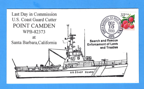 USCGC Camden WPB-82373 Last Day in Commission December 10, 1999 - Cachet by Bill Everett