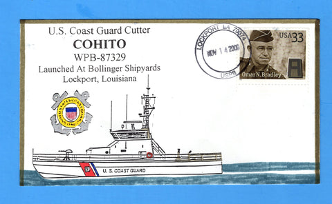 USCGC Cohito WPB-87329 Launched November 14, 2000 - Hand Drawn and Colored Cachet by Bill Everett
