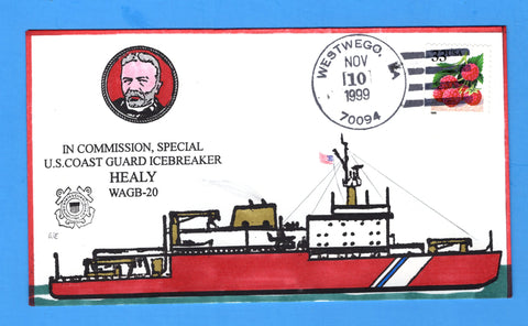 USCGC Healy WAGB-20 in Special Commission November 10, 1999 - Hand Drawn and Colored Cachet by Bill Everett