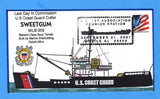 USCGC Sweetgum WLB-309 Last Day in Commission September 21, 2001 - Hand Drawn and Colored Cachet by Bill Everett