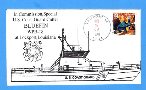 USCGC Bluefin WPB-18 In Commission, Special March 22, 2000 - Cachet by Bill Everett