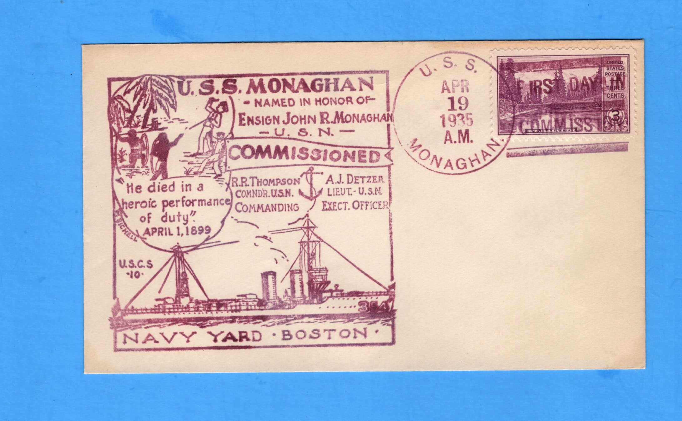 USS Monaghan DD-354 Commissioned April 19, 1935