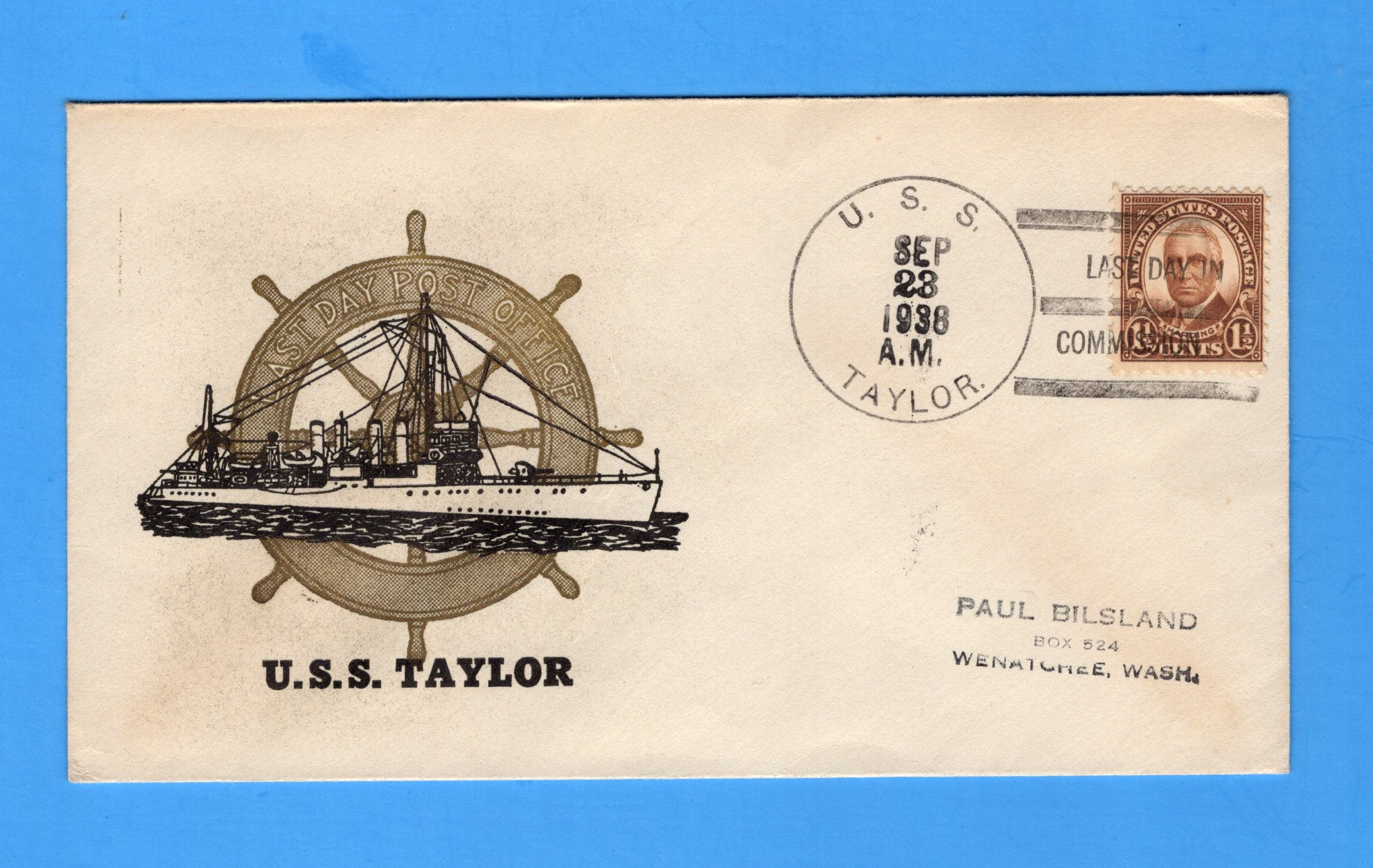 USS Taylor DD-94 Decommissioned September 23, 1938