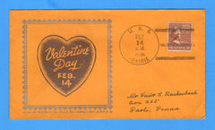 USS Prairie AD-15 Valentine's Day Feb 14, 1941 (Year on Back) Linto Cachet