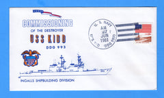 USS Kidd DDG-993 Commissioned June 27, 1981 - William Everett Cachet