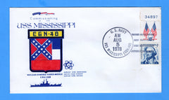 USS Mississippi CGN-40 Commissioned August 5. 1978 - William Everett Cachet