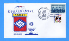 USS Arkansas CGN-41 Commissioned October 18, 1980 - William Everett Cachet