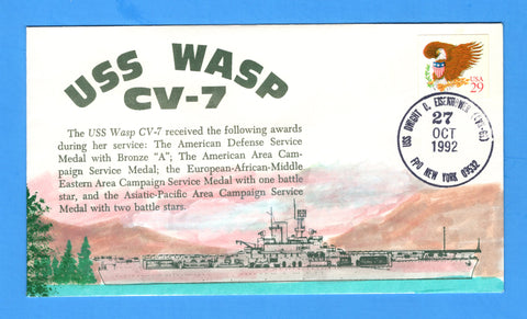 USS Wasp CVN-69 Navy Day October 27, 1992