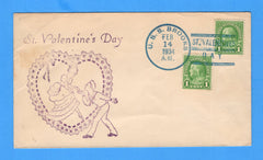 USS Brooks DD-232 Valentine's Day February 14, 1934