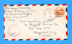 USS Monterey CV-26 Sailor's Mail Okinawa President Ford Aboard Dec 14, 1943