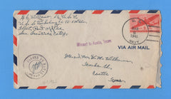 USS Vicksburg CL-86 Sailor's Mail Ulithi Atoll March 8, 1945 - With Letter