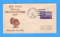 USS Juneau CL-119 Thanksgiving November 25, 1948